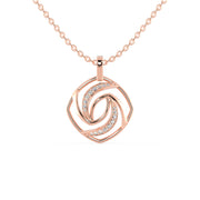 rose gold wedding pendant- diamondrensu