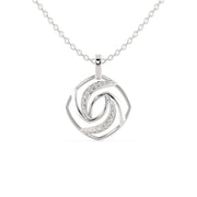 white gold wedding pendant - diamondrensu