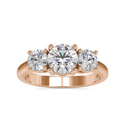 rose gold moissanite engagement ring - diamondrensu