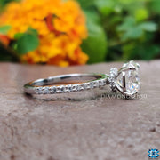 1.83 TCW Octagon Cut Hidden Halo Pave Set Moissanite Wedding Ring