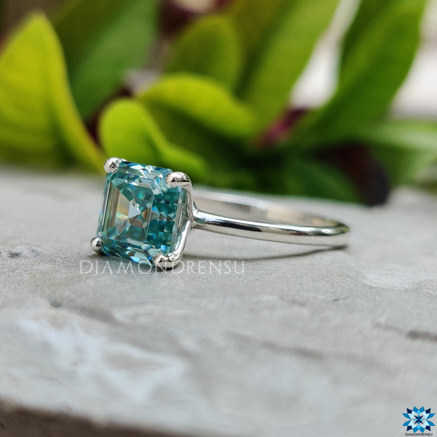 asscher step cut moissanite - diamondrensu