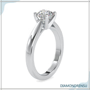 round moissanite ring - diamondrensu