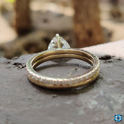 yellow gold bridal set - diamondrensu