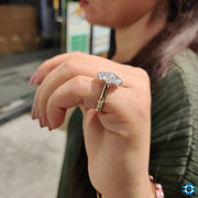 cluster engagement ring - diamondrensu