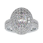 oval moissanite engagement ring - diamondrensu