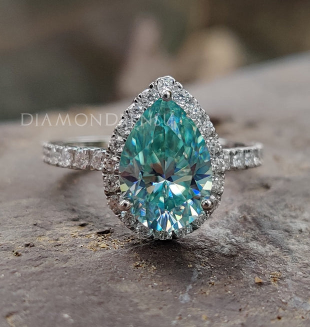 moissanite engagement ring- diamondrensu