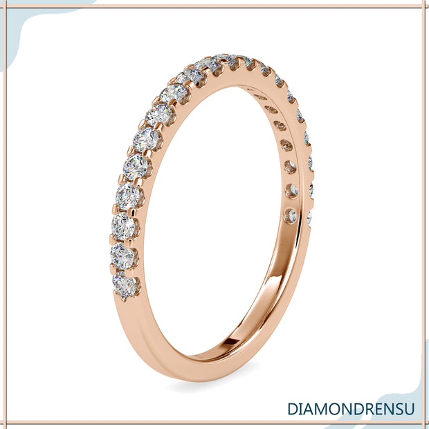 rose gold wedding bands - diamondrensu