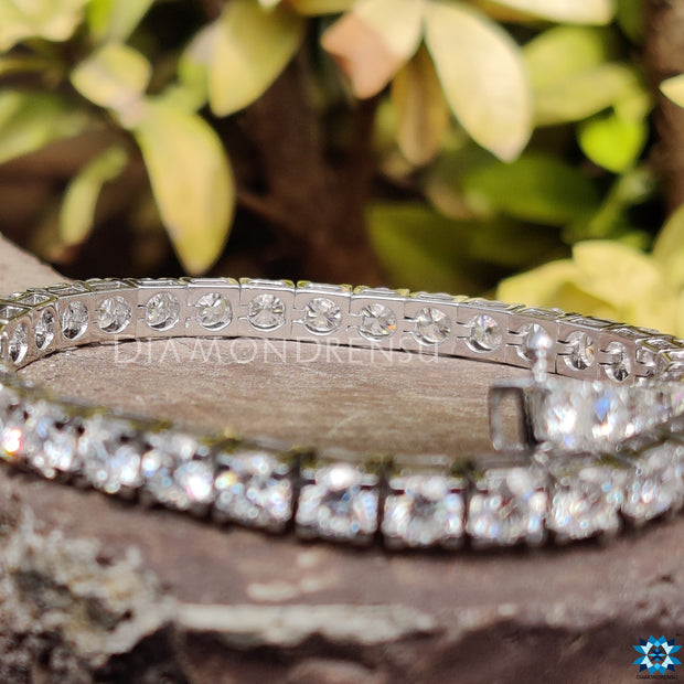 moissanite chain bracelet