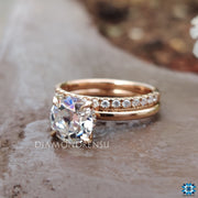 old european cut moissanite ring - diamondrensu