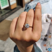 moissanite wedding ring - diamondrensu
