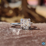 solitaire moissanite engagement ring - diamondrensu