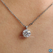 moissanite solitaire pendant - diamondrensu