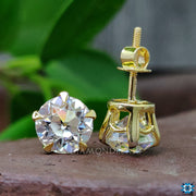 yellow gold wedding earrings