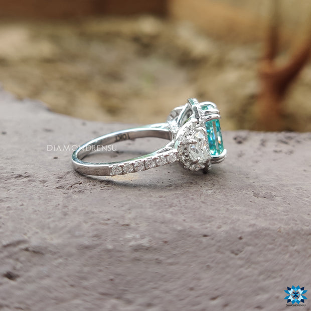 radiant cut moissanite engagement ring - diamondrensu