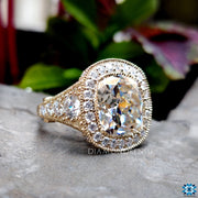 grey moissanite engagement ring - diamondrensu