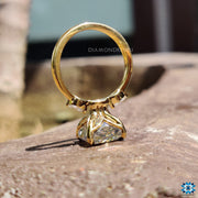 yellow gold ring - diamondrensu