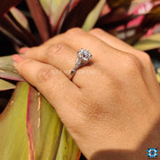 Old European Cut -  Antique Vintage Moissanite Engagement Ring
