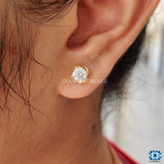 moissanite diamond stud earrings - diamondrensu