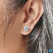 round moissanite earrings