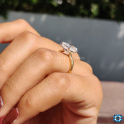cushion moissanite ring - diamondrensu