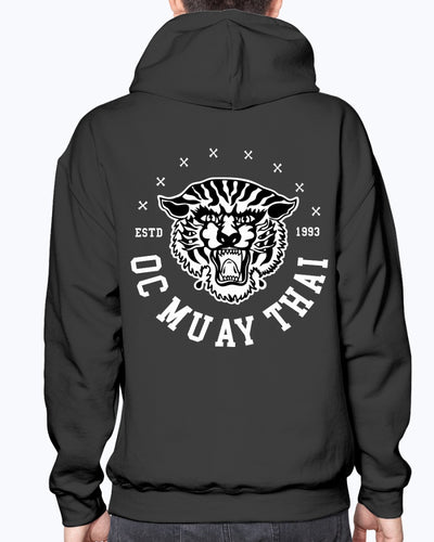 Classic Tiger Hoodie - Black w/ White Tiger