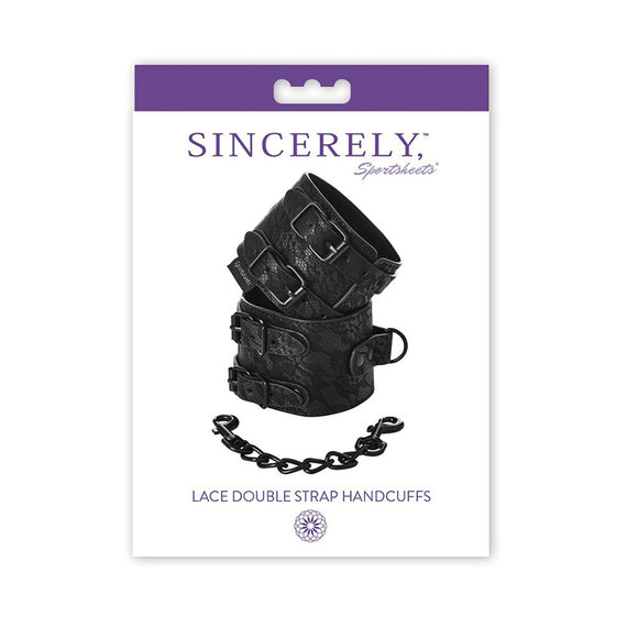Sincerely, SS Lace Double Strap Handcuffs