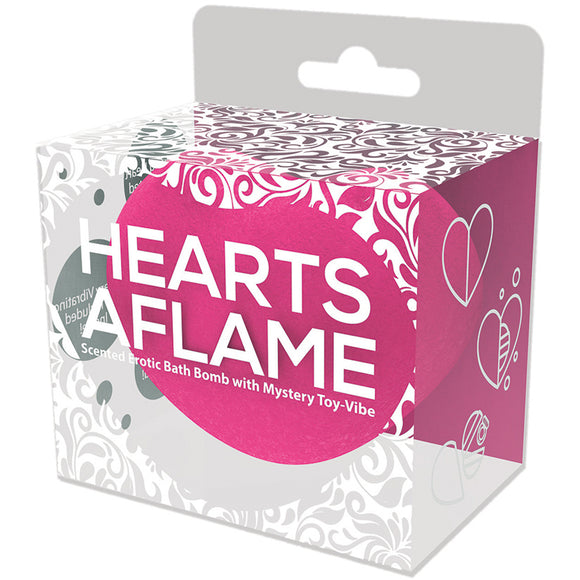 Hearts A Flame Erotic Lovers Bath Bomb w/ Vibe Inside