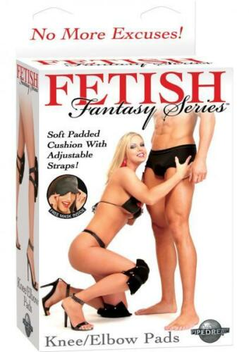 Fetish Fantasy Knee Elbow Pads 2 Pack Black Oral Sex Job Soft Sexy Unisex w/Mask