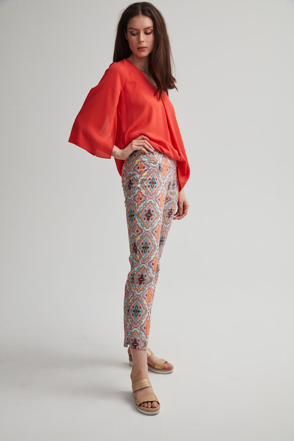 Colourful Motif Pant