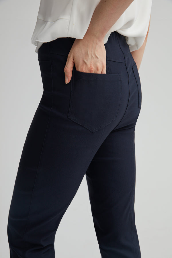Stretch Jeans style pant with Cuff