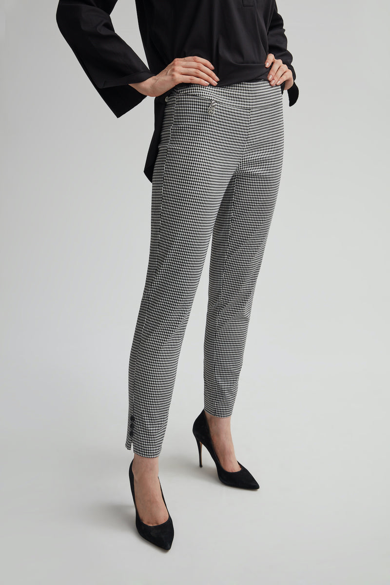 Perfect Fit Gingham Ankle Pant
