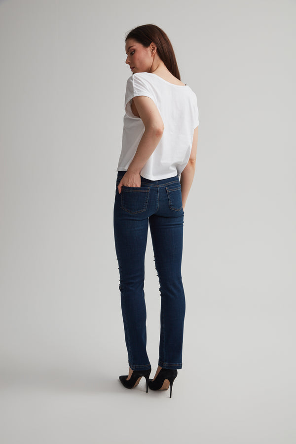 Perfect Fit Pull-on Beaded Jean