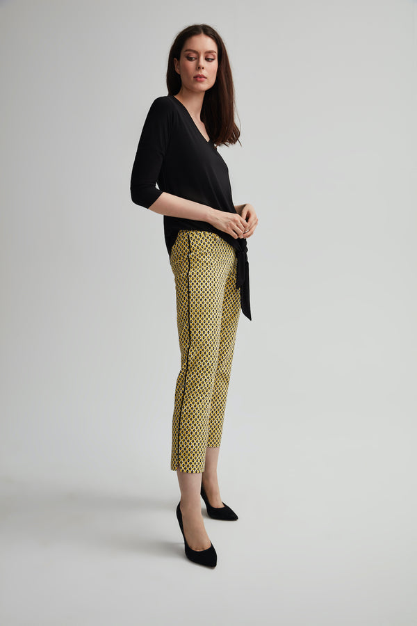 Octagon Crop Pant with Side Bands