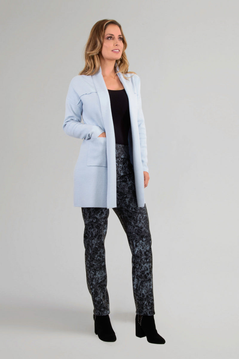 Powder Blue Marble Jacquard Pant