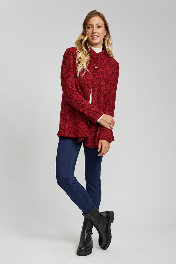 Red Boucle Jacket