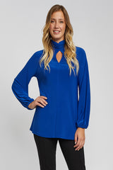 Ruched Neck Jersey Top