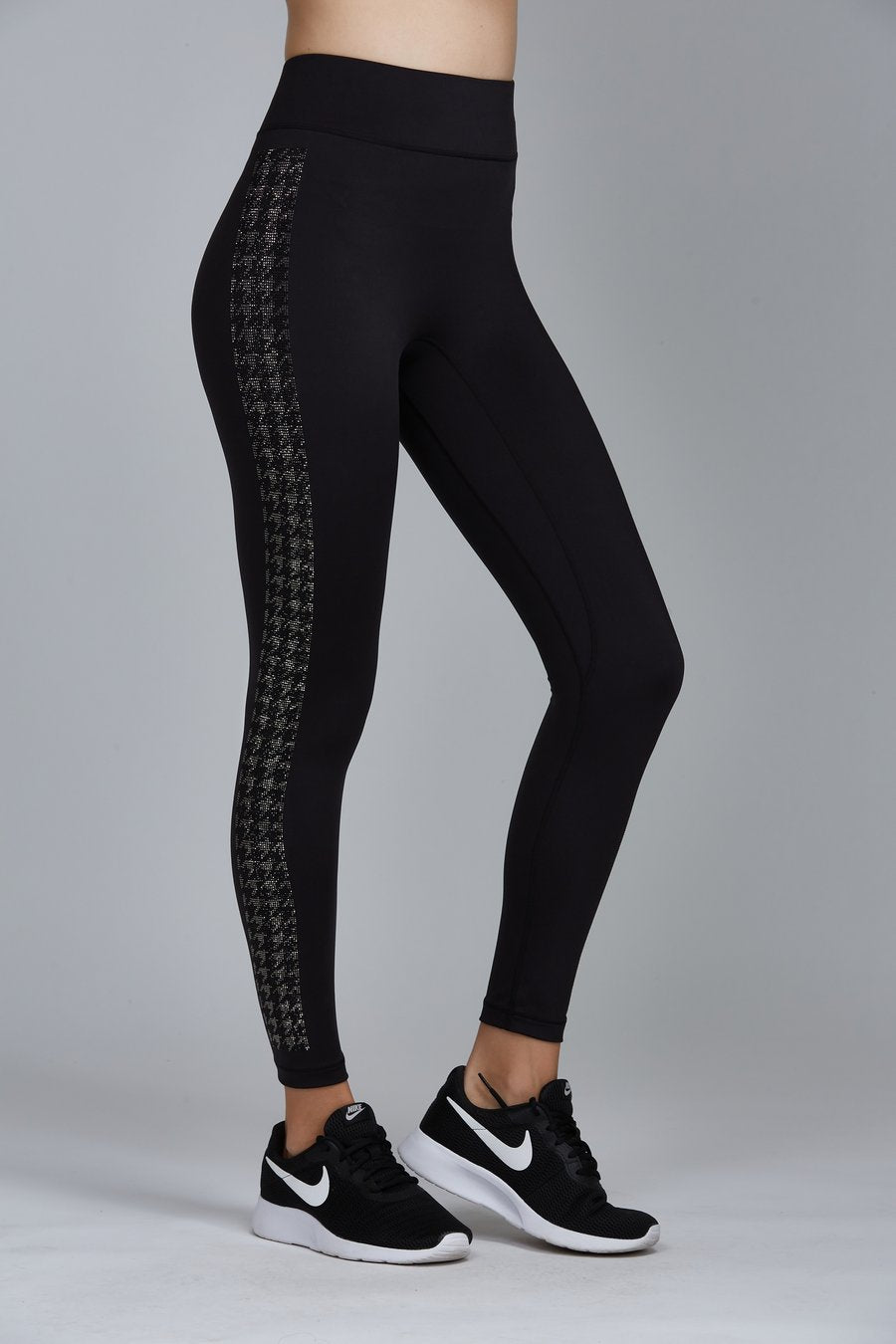 CRYSTAL HOUNDSTOOTH LEGGING BLACK LABEL | NOLI