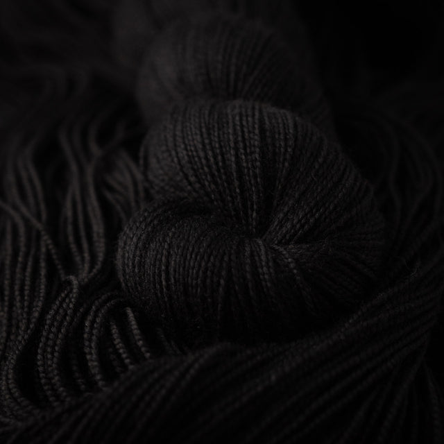 Moira's Black Rose (Merino Sock)