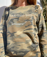 Load image into Gallery viewer, Long Island Mama Sweatshirt in Camo
