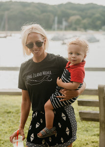 Long Island Mama tee in Black