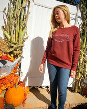 Load image into Gallery viewer, Long Island Mama Sweatshirt in Wine