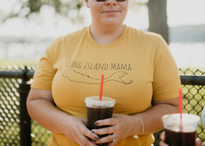 Long Island Mama tee in Goldenrod