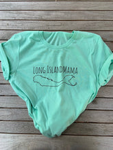 Load image into Gallery viewer, Long Island Mama tee in Mint Green