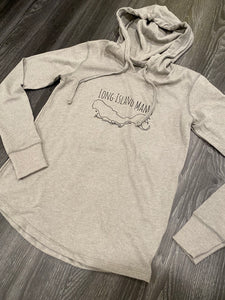 Long Island Mama Hoodie in Grey