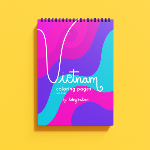 Vietnam-Inspired Coloring Sheets [FOR KIDS]