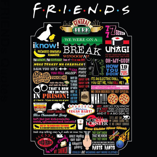 BitemarkApparel - FRIENDS TV Quotes