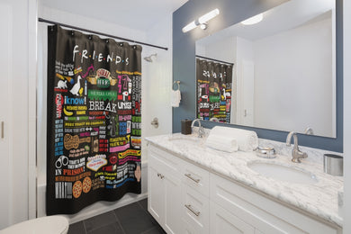 FRIENDs Quotes  - Shower Curtains