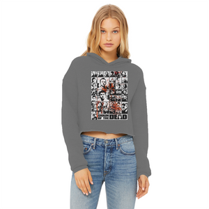 You've Got Red On You! - Ladies Cropped Raw Edge Hoodie