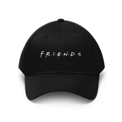 FRIENDS Quotes - Unisex Twill Hat (White Logo)