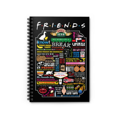 FRIENDs Quotes - Spiral Notebook (Ruled Line)